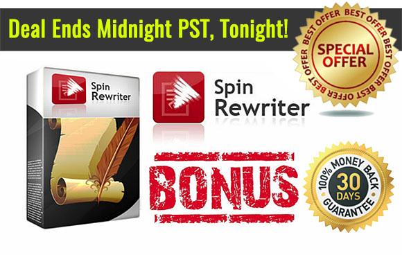 SpinRewriter 6.0 Special Offer