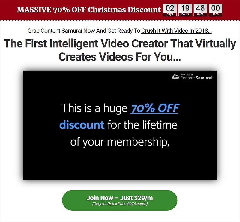 ContentSamurai Christmas Offer