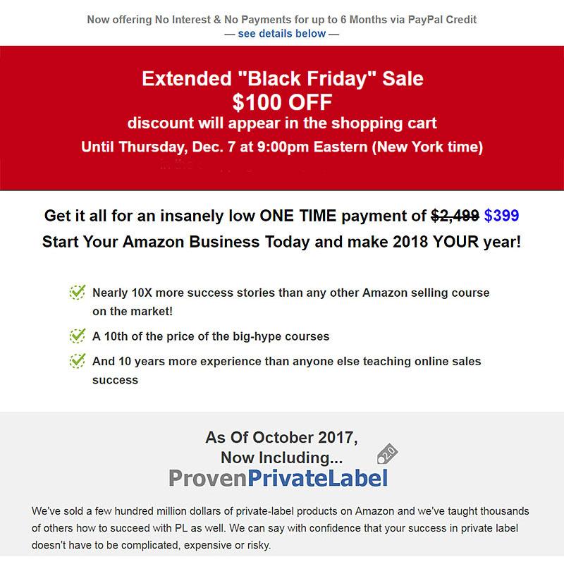 Amazon Seller Course 25% Discount