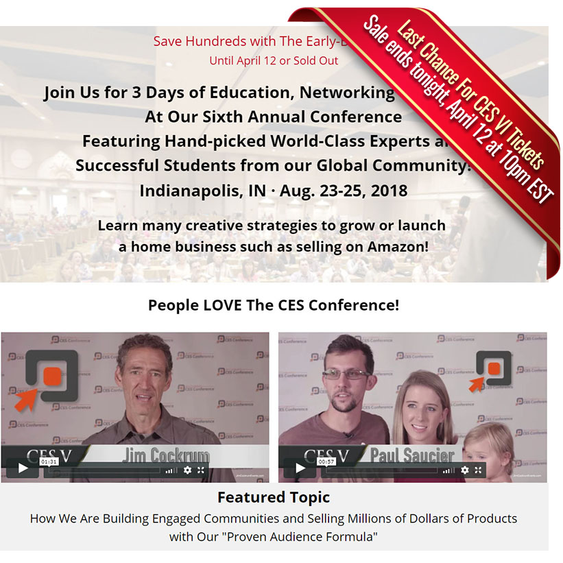 CES VI Internet Marketing Conference Ticket Sales