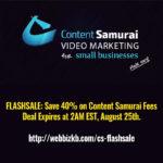 Content Samurai 4-% Discount Flashsale