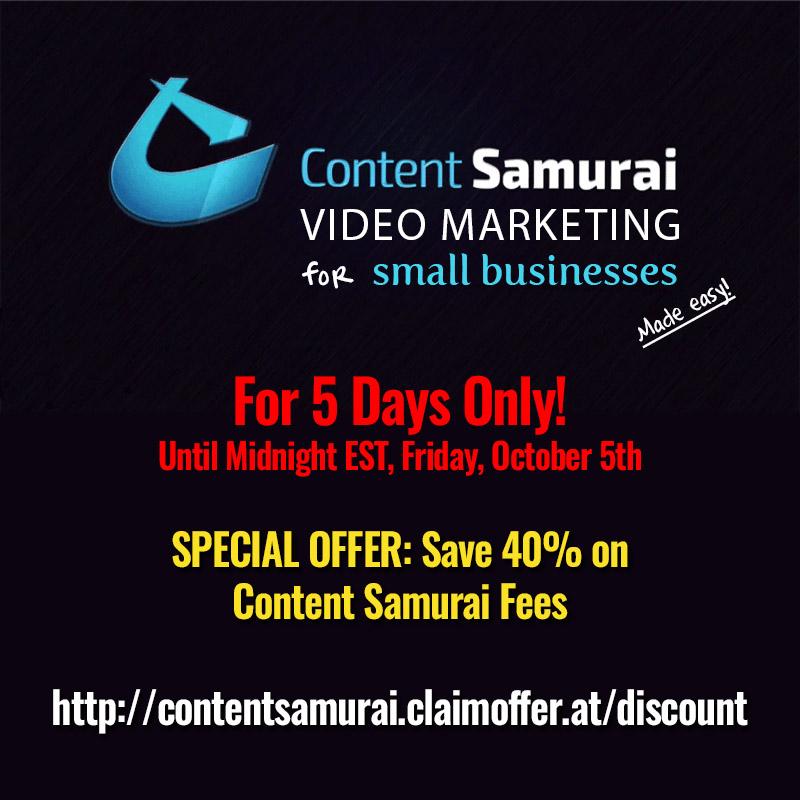Content Samurai 40% Discount