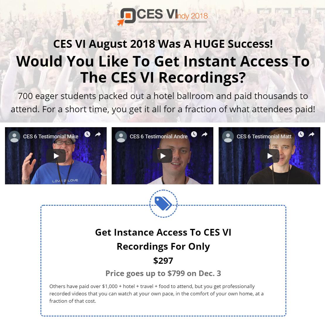 CES 6 Recordings