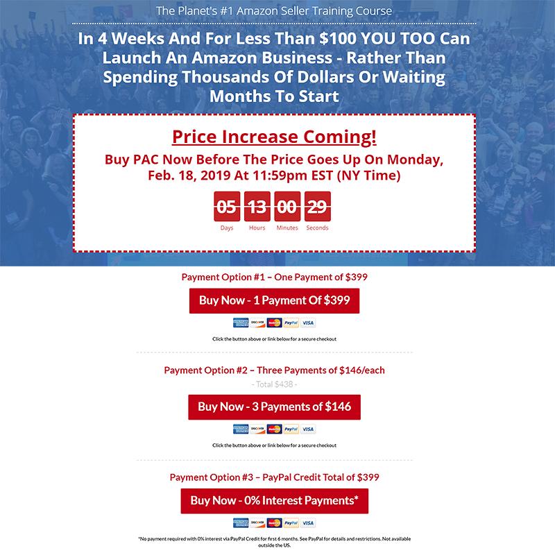 Amazon FBA Course Price Rise