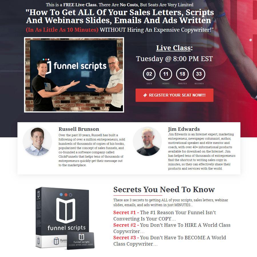 Funnel Scripts Web Class