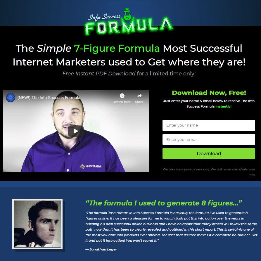 Info Success Formula Free PDF Report
