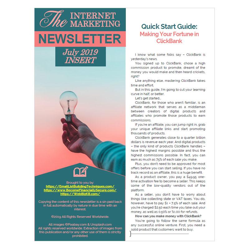 Free July 2019 PDF Insert