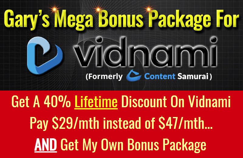 Vidnami LIFETIME 40% Discount Deal